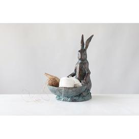 image-Decorative Rabbit Birdbath Creative Co-Op