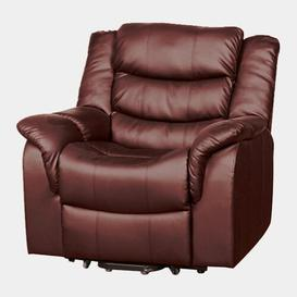 image-Delreal Electric Recliner Ophelia & Co. Upholstery Colour: Red