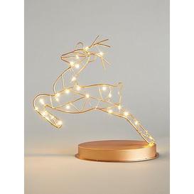 image-Prancing Reindeer Metal Room Light Christmas Decoration