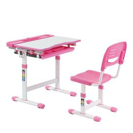 image-Aerial Children's 2 Piece Play Table and Chair Set Isabelle & Max Colour (Table Top/Legs): Pink/White
