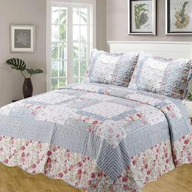 image-Pocola Bedspread Set with 2 pillows Brambly Cottage