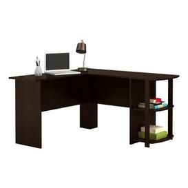 image-Mccreary L-Shape Executive Desk Mercury Row Colour: Espresso