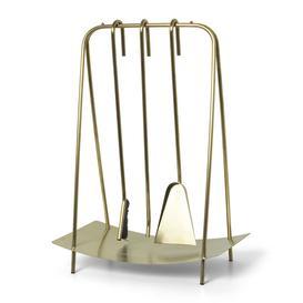 image-Ferm Living - Port Fireplace Tools - Brass