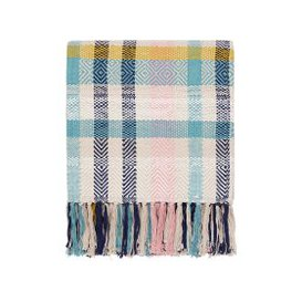 image-Joules Cambridge Garden Floral Woven Throw, Multi