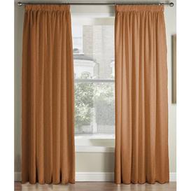 image-Krum Luxury Pencil Pleat Room Darkening Curtains Canora Grey Colour: Orange, Panel Size: 117 W x 228 D cm