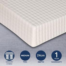 image-MemoryPedic Memory Pocket Euro Size Mattress White