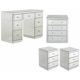 image-Damion Dressing Table Set Mercer41 Colour: Silver