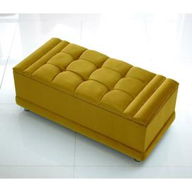 image-Gillett Storage Ottoman Canora Grey Upholstery Colour: Black, Size: 51cm H x 183cm W x 46cm D