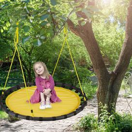 image-Jaren Swing Seat Freeport Park Colour: Yellow