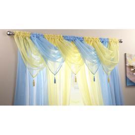 image-Maloy 56cm Curtain Pelmet Bloomsbury Market Colour: Sky Blue