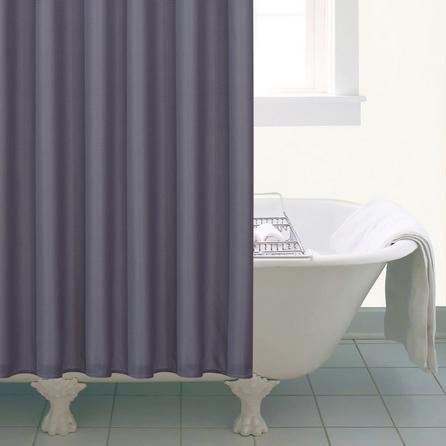 image-Waffle Shower Curtain Grey