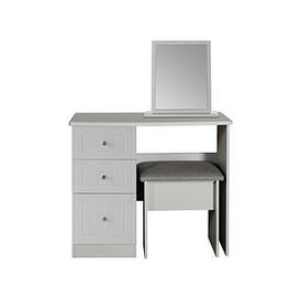 image-Swift Dakota Dressing Table, Stool And Mirror Set