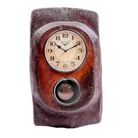 image-Upcycled Collection Old Wooden Clock with Pendulum