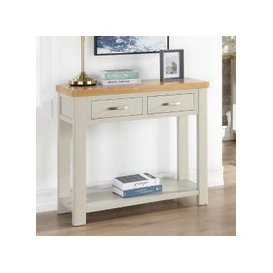image-Areli Stone Painted Console Table With 2 Drawers