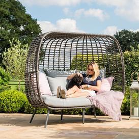image-Maze Rattan Garden Furniture Riviera Grey 3 Seater Sofa
