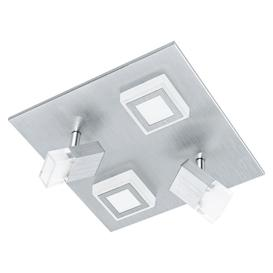 image-Eglo 94512 Masiano LED 2 Spot And 2 Flush Wall/Ceiling Light In Aluminium - L: 270mm