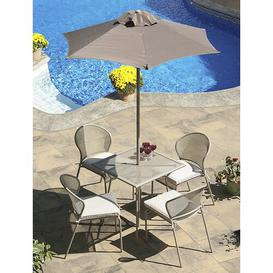 image-Encanto 4 Seater Dining Set with Upholstery Sol 72 Outdoor