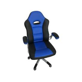 image-Aubrianna Home Office Chair In Blue And Black Faux Leather
