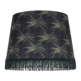 image-MINDTHEGAP - Ornamental Palms Cone Lamp Shade - Dark - Large
