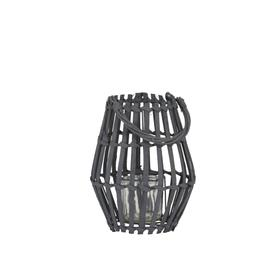 image-Dark Grey Hurricane Candle Holder Small