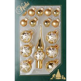 image-Christmas Tree Topper Mini Decorative Set Krebs Glas Lauscha