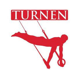 image-Turnen, Gymnast Wall Sticker East Urban Home Colour: Light red, Size: 50 cm H x 52 cm W