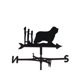 image-Weathervane in Bearded Collie Dog Design - Large (Traditional)