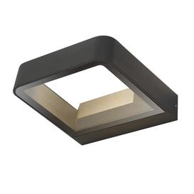 image-Dar MAL3239 Malone 1 Light Outdoor Wall Light In Grey With Clear Glass