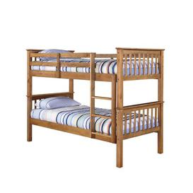 image-Single Bunk Bed Just Kids Colour: Antique Waxed Pine