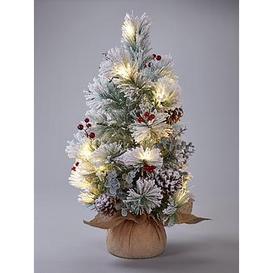image-Bavarian Pre-Lit Table Top Christmas Tree
