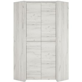 image-Aurelia White Fitted Wardrobe - Corner