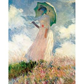 image-'Woman with a Parasol' by Claude Monet - Wrapped Canvas Painting Print ClassicLiving Size: 70cm H x 50cm W x 2.2cm D