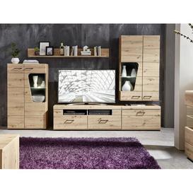 "image-Lyra Entertainment Unit for TVs up to 60\"" Brayden Studio Colour: Artisan oak"