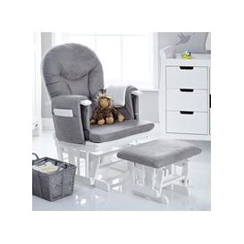 image-Obaby Reclining Nursing Chair and Stool - Sand