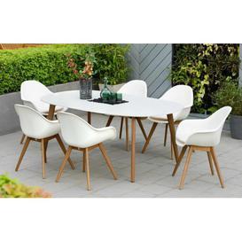 image-Montreux - 6 Seater Dining Set - White - Lifestyle Garden