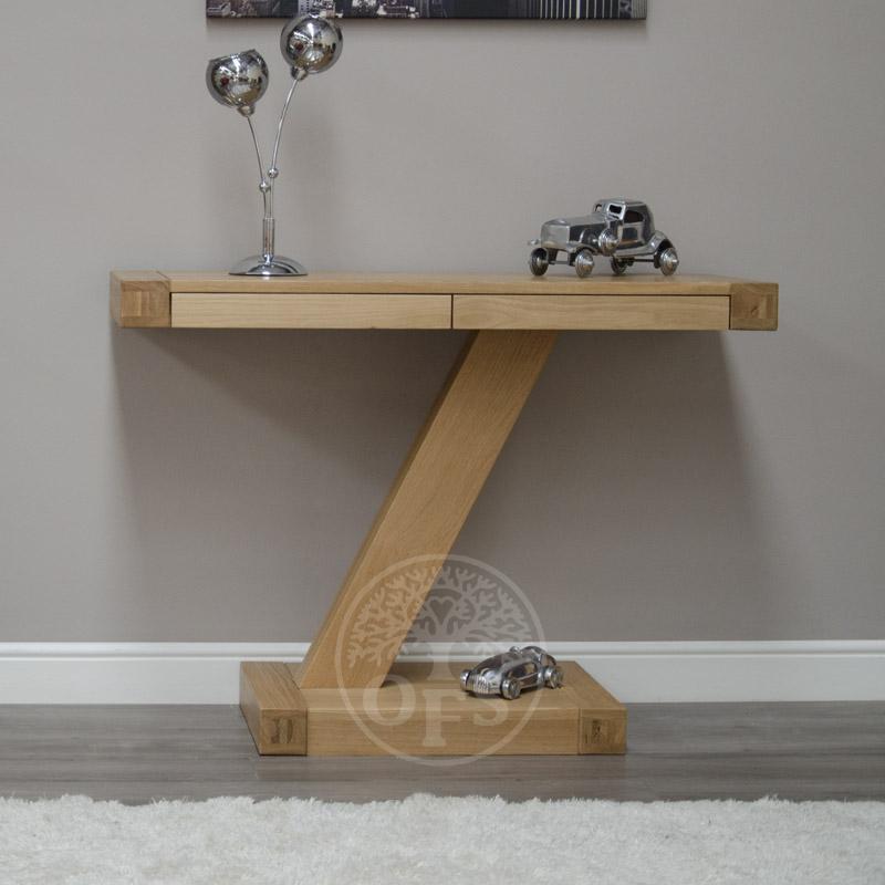 image-Infinity Oak Designer Hall Table