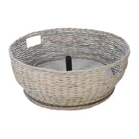 image-A by AMARA Christmas - Willow Woven Tree Basket - Grey - Large