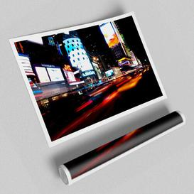 image-'New York City Night Lights' - Unframed Graphic Art Print on Paper East Urban Home Size: 42cm H x 59.4cm W