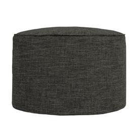 image-Broughtonville Pouffe Ebern Designs Upholstery Colour: Charcoal Grey