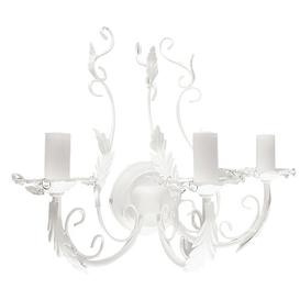 image-Eberly 3-Light Candle Wall Light Fleur De Lis Living