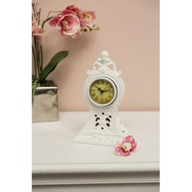 image-Poly Mantle Clock Lily Manor