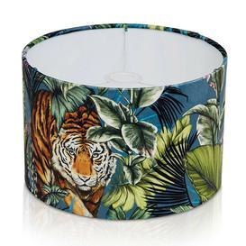 image-30cm Velvet Drum Lamp Shade