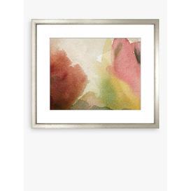 image-Organic Watercolours Framed Print & Mount, 97 x 114cm, Pink