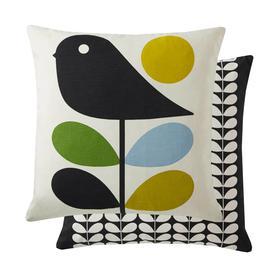image-Orla Kiely Cushion Early Bird Duck Egg