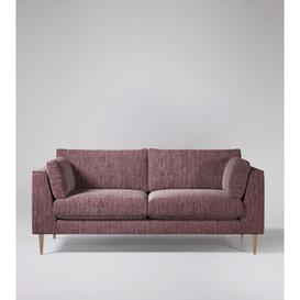 image-Swoon Nero Three-Seater Sofa in Dusk Cord With Light Feet