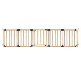 image-Wooden Wall Mounted Pet Gate