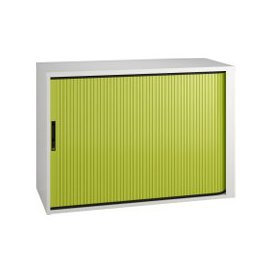 image-Solero Low Tambour Unit (Green), Green, Free Next Day Delivery