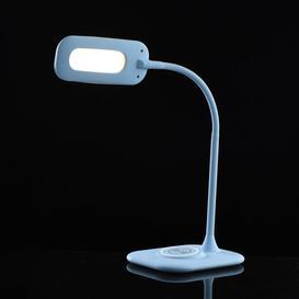 image-Liriano LED Desk Lamp Ebern Designs Base Colour/Finish: Blue, Size: 55cm H x 10cm W x 14cm