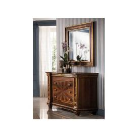 image-Arredoclassic Modigliani Mahogany Italian 3 Drawer Dresser