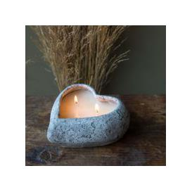 image-Stone Heart Candle Pot
